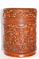 Finely Carved Chinese Bamboo Circular Lidded Pot (2 of 6)