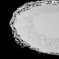 Exceptional Large Solid Sterling Silver Victorian Salver/tray/platter 47cm with Cast Border - Hunt & Roskell - Storr Mortimer & Hunt (6 of 29)