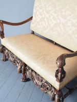 Charles II Style Gilded Walnut Humpback Sofa (6 of 11)