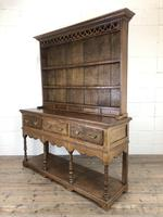 Early 20th Century Antique Oak Pot Board Welsh Dresser (10 of 18)
