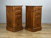 Stunning Pair of Burr Walnut Bedside Chests of Drawers (2 of 5)