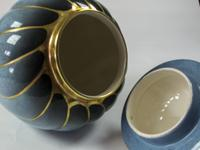 Rare Vintage Carlton Ware 'bleu Royale' Covered Urn (3 of 4)