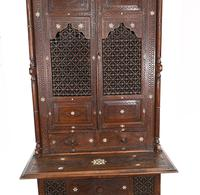 Syrian Inlay Cabinet Bookcase Damascan Islamic Interiors c.1880 (4 of 14)