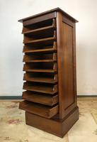 French Tambour Fronted Cherrywood Filing Cabinet with Haberdashery Style Trays (8 of 12)