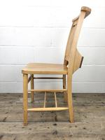 Set of Eight Vintage Beech Chapel Chairs (11 of 16)