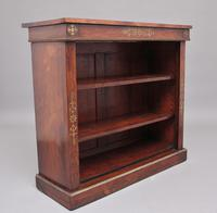 Early 19th Century Rosewood & Brass Inlaid Open Bookcase (2 of 9)