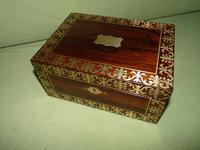 QUALITY Inlaid Regency Rosewood Jewellery Box + Tray. c1830 (10 of 15)