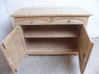 Victorian Large Beeded Antique Pine 2 Door Dresser Base to wax / paint (10 of 10)