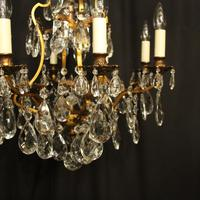 French Gilded Bronze & Crystal Chandelier (8 of 10)