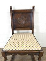 Set of Six Early 20th Century Antique Oak Dining Chairs (7 of 12)