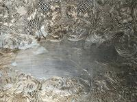 Antique Victorian Serpentine English Silver Plate Acanthus Salver Tray (12 of 13)