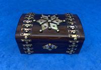 Victorian Brassbound French Rosewood Trinket Box (10 of 11)