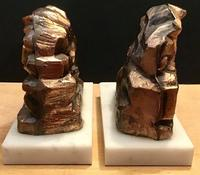 Unusual Pair 1950's Bookends in the shape of coal miners on marble bases (5 of 6)