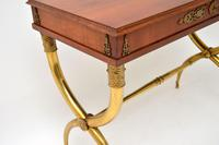 Antique Neoclassical Walnut & Brass Writing / Side Table (10 of 16)
