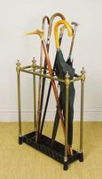 Late Victorian Brass & Cast Iron Stick Stand (4 of 6)