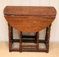 Small Oak Drop Leaf Table c.1920