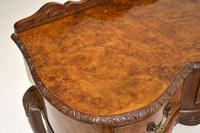 Queen Anne Style Burr Walnut Server Table c.1930 (10 of 12)