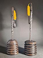 Pair of 19th Century Iron Rushlights (3 of 5)