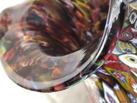 2 Italian Murano 20th Century Fratelli & Torso Millefiori Glass Vases (10 of 15)