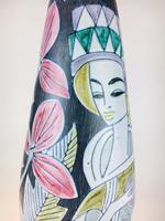 Fabulous Marian Zawadzki for Tilgmans Hand Painted Swedish Ceramic Vase c.1960s (3 of 13)