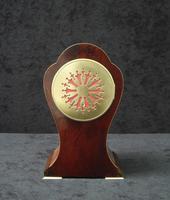 French Art Nouveau Mahogany Inlaid Mantel Clock (3 of 6)