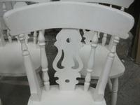 Set of 6 White Fiddle Back Kitchen Chairs (2 of 3)
