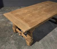 Large Refectory Bleached Oak Farmhouse Table (7 of 17)