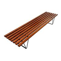 Slatted Hille Bench by Robin Day 1950s (3 of 6)