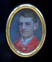 Fine 19thc Miniature Watercolour Portrait Painting of 'William George Dickinson' (6 of 11)