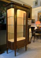 Exceptional 19th Century French Kingwood Parquetry Gilt Metal Vitrine Display Cabinet (5 of 17)