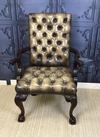 Georgian Style Mahogany Desk Chair c.1920 (2 of 15)
