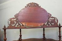 Antique Victorian Burr Walnut Display Whatnot Side Cabinet (12 of 13)