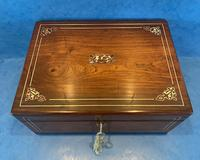 William IV Rosewood Box with Mother of Pearl Inlay (5 of 13)