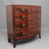 19th Century Flame Mahogany Bowfront Chest of Drawers (5 of 6)