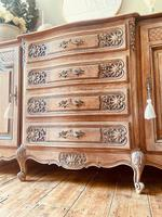 French Antique Sideboard / Louis XV Style Sideboard / Antique Oak Buffet (3 of 9)