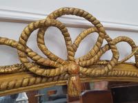 Beautiful Gilded English Rope Design Overmantle Mirror c.1870 (9 of 9)