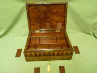 Large Tunbridge Ware Style Jewellery Box - Original Tray c.1870 (6 of 16)