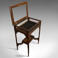 Antique Bijouterie Table, English, Walnut, Glass, Display, Edwardian c.1910 (12 of 12)