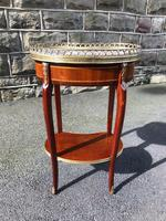 Antique Marble Top Mahogany Kidney Shaped Table (5 of 8)