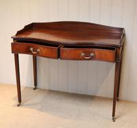 Mahogany Serpentine Front Side Table (2 of 10)