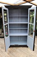 Fabulous Old Pine / Black Painted Glazed Cupboard / Display Cabinet - We Deliver! (9 of 12)