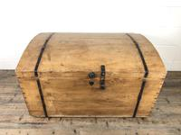 Large Antique Pine Dome Top Trunk (2 of 9)