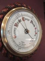 Large Antique Polished Oak Ship's Barometer (5 of 6)