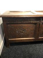 Carved Antique Coffer, English Oak Joined Chest, Trunk, c.1700 (7 of 8)