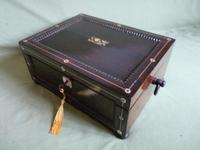Inlaid Rosewood Jewellery Box c.1835 (10 of 10)