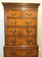 Antique Mahogany Chippendale Style Chest on Chest, Tallboy (5 of 15)