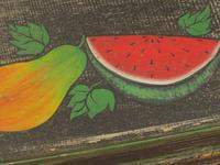 Shabby Chic Folk Art Painted Writing Slope Box with Fruit, Recipe Storage (2 of 14)