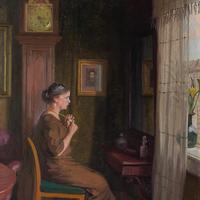 Robert Panitsch, Interior Scene with Pensive Woman (8 of 10)