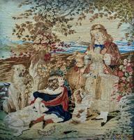 Large Beautiful Framed Original 19thc German Berlin Needlework Tapestry Picture (15 of 15)