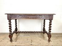 Antique 19th Century Carved Oak Table (2 of 11)